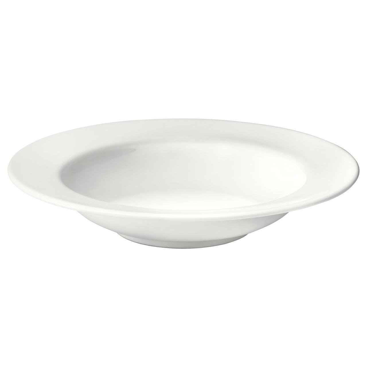 IKEA VARDAGEN (602.892.77) Глубокая, кремовая тарелка