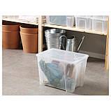 IKEA SAMLA (798.508.75) Коробка с крышкой, прозрачная, фото 2