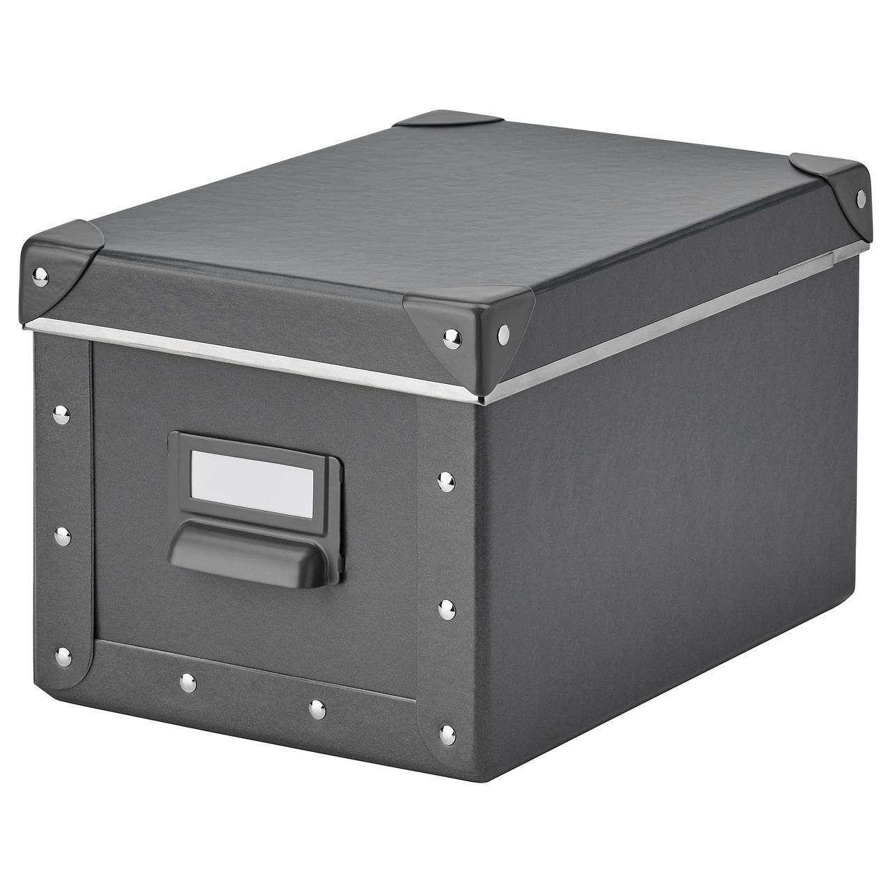 IKEA FJALLA (703.956.73) Коробка с крышкой, темно-серый