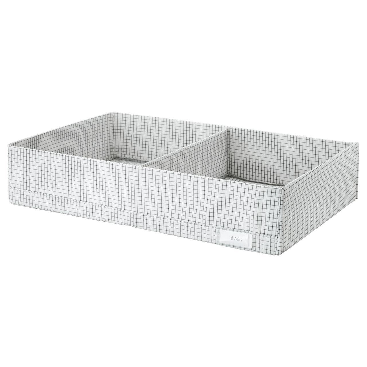 IKEA STUK (003.095.65) Коробка с перегородками, белый/серый