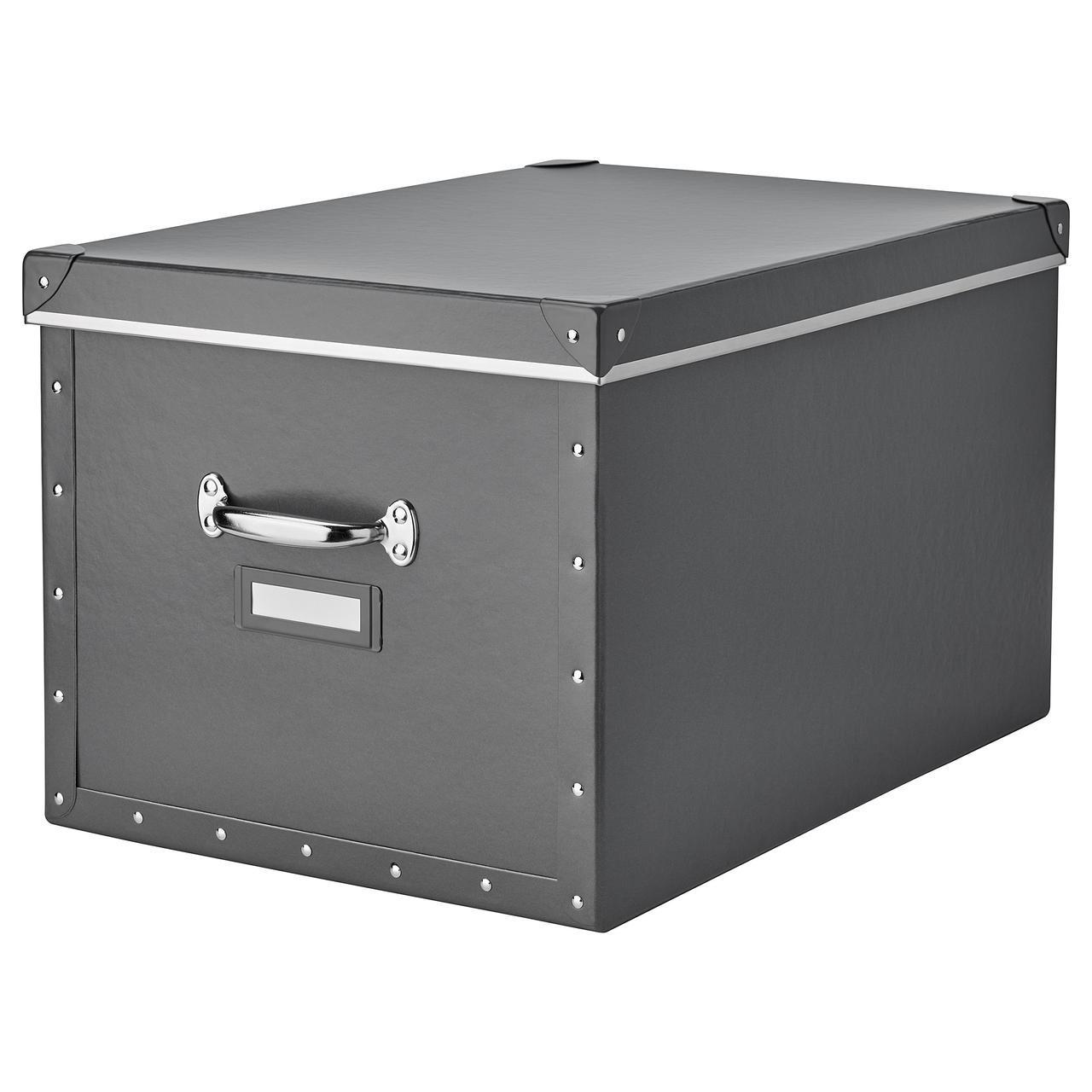 IKEA FJALLA (503.956.69) Коробка с крышкой, темно-серый