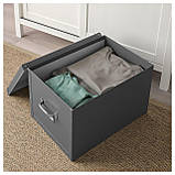 IKEA FJALLA (503.956.69) Коробка с крышкой, темно-серый, фото 5
