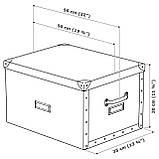 IKEA FJALLA (503.956.69) Коробка с крышкой, темно-серый, фото 6