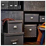 IKEA FJALLA (503.956.69) Коробка с крышкой, темно-серый, фото 7