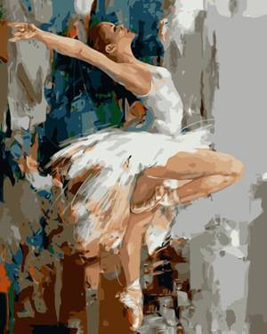 Картина по номерам Балерина, в термопакете 40*50см Стратег код: VA-0900