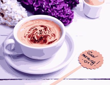 Картина по номерам Ароматное кофе, в термопакете 40*50см Стратег код: VA-1095