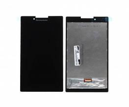 Дисплей Lenovo A7-30HC Tab 2 с сенсором (тачскрином) черный, с желтым шлейфом