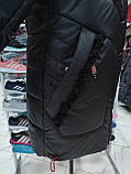 """Довга зимова куртка """"Ліка"""" з екохутром, фото 3"""