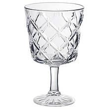 IKEA FLIMRA (002.865.02) Бокал для вина, бесцветное стекло, узор