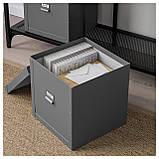 IKEA FJALLA (204.040.19) Коробка с крышкой, темно-серый, фото 3