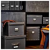 IKEA FJALLA (204.040.19) Коробка с крышкой, темно-серый, фото 6