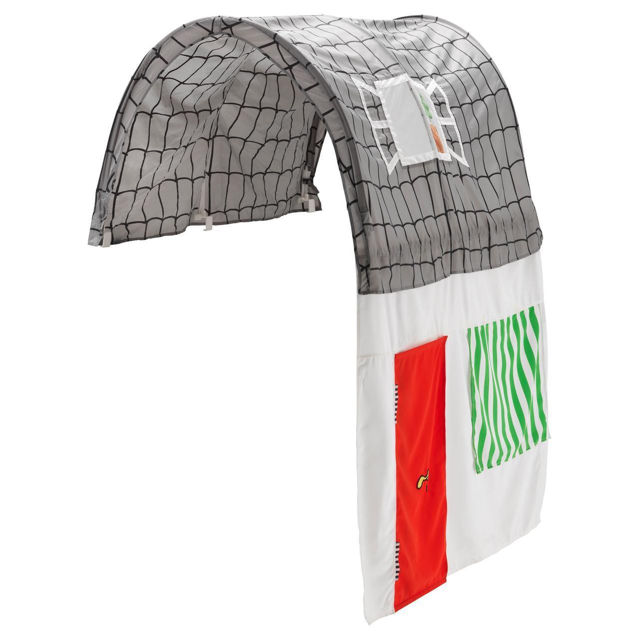 IKEA KURA (903.324.58) Навес с занавеской, серый, белый