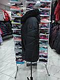 """Довга зимова куртка """"Ліка"""" з екохутром, фото 4"""