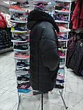 """Довга зимова куртка """"Ліка"""" з екохутром, фото 5"""