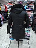 """Довга зимова куртка """"Ліка"""" з екохутром, фото 8"""