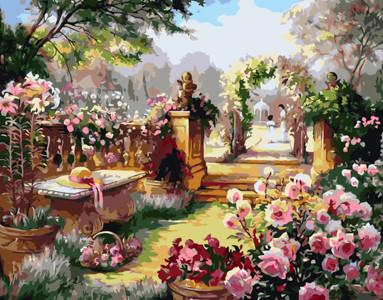 Картина по номерам Таинственный сад, в термопакете 40*50см Стратег код: VA-1795