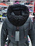 """Довга зимова куртка """"Ліка"""" з екохутром, фото 10"""