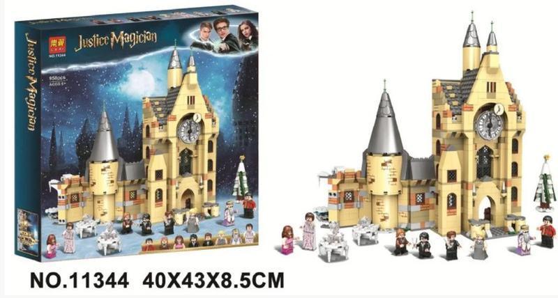 """Конструктор 11344 Гаррі Поттер «Harry Potter» """"Годинникова Вежа Хогвартса"""" 958 Деталей."""