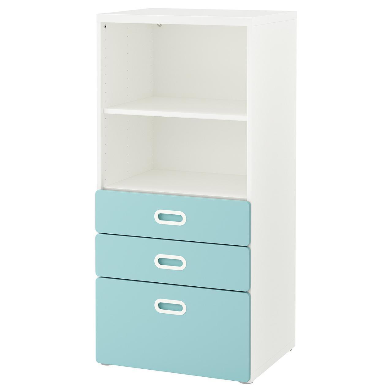 IKEA STUVA / FRITIDS (192.526.96) Шкаф с ящиками, белый, красный