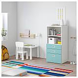 IKEA STUVA / FRITIDS (192.526.96) Шкаф с ящиками, белый, красный, фото 2