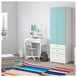 IKEA STUVA / FRITIDS (592.529.96) Шкаф/гардероб, белый, красный, фото 3