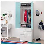 IKEA STUVA / FRITIDS (592.529.96) Шкаф/гардероб, белый, красный, фото 4