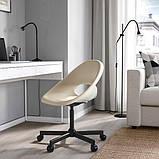 ELDBERGET ЕЛЬДБЕРГЕТ / MALSKÄR МАЛЬШЕР Обертовий стілець - бежевий/чорний - IKEA, фото 2