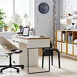 ELDBERGET ЕЛЬДБЕРГЕТ / MALSKÄR МАЛЬШЕР Обертовий стілець - бежевий/чорний - IKEA, фото 5