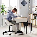 ELDBERGET ЕЛЬДБЕРГЕТ / MALSKÄR МАЛЬШЕР Обертовий стілець - бежевий/чорний - IKEA, фото 6