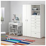 IKEA STUVA / FRITIDS (192.750.75) Шкаф/гардероб, белый, красный, фото 2