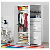 IKEA STUVA / FRITIDS (192.750.75) Шкаф/гардероб, белый, красный, фото 3