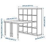 IKEA KALLAX (390.465.54) Письменный стол, blackbass, фото 4