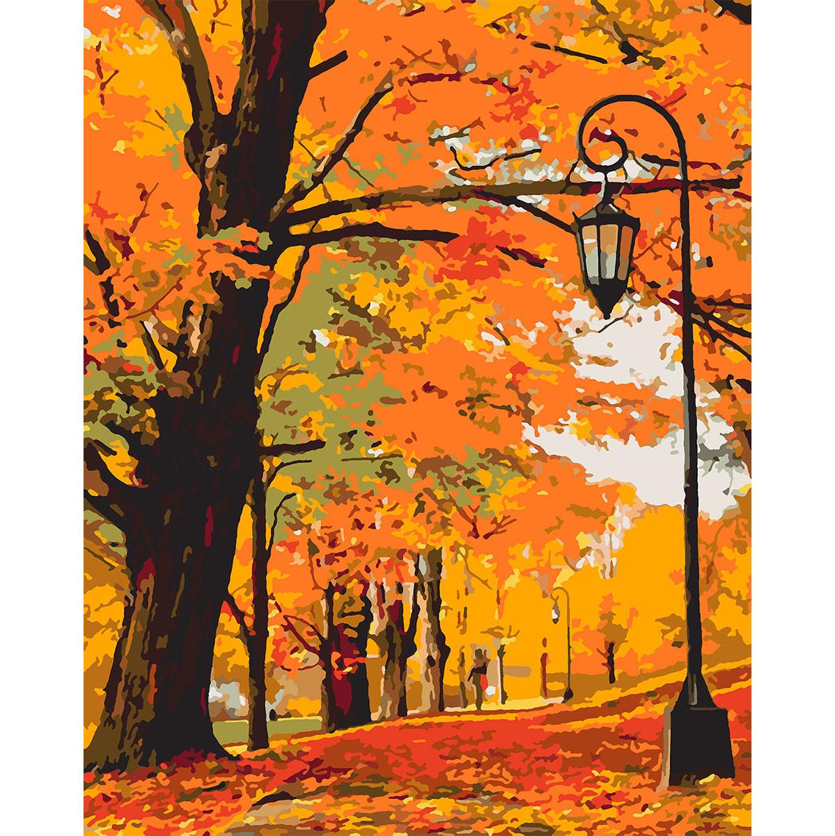 Картина по номерам в подарочной коробке Золотая осень 40*50 см. Santi код:953901
