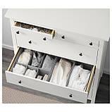 IKEA HEMNES (203.742.77) Комод, 6 ящиков, белый, фото 3