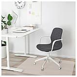 IKEA LANGFJALL (892.527.73) Рабочий стул, Gunnared светло-розовый, черный, фото 2