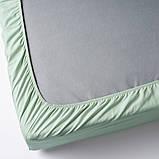 DVALA ДВАЛА Простирадло на резинці - світло-зелений - IKEA, фото 3