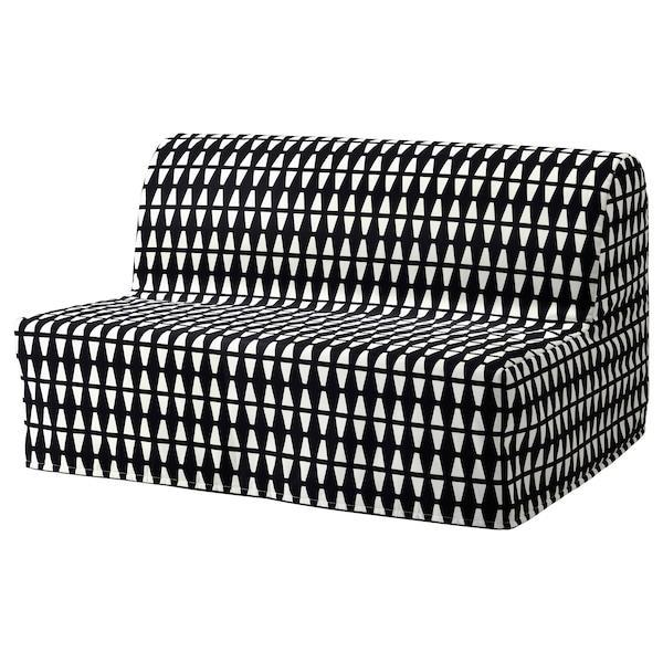 LYCKSELE HÅVET ЛЮККСЕЛЕ ХОВЕТ 2-місний диван-ліжко - ЕББАРП чорний/білий - IKEA
