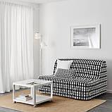 LYCKSELE HÅVET ЛЮККСЕЛЕ ХОВЕТ 2-місний диван-ліжко - ЕББАРП чорний/білий - IKEA, фото 3