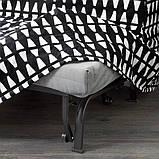 LYCKSELE HÅVET ЛЮККСЕЛЕ ХОВЕТ 2-місний диван-ліжко - ЕББАРП чорний/білий - IKEA, фото 5