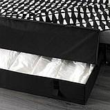 LYCKSELE HÅVET ЛЮККСЕЛЕ ХОВЕТ 2-місний диван-ліжко - ЕББАРП чорний/білий - IKEA, фото 6