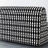 LYCKSELE HÅVET ЛЮККСЕЛЕ ХОВЕТ 2-місний диван-ліжко - ЕББАРП чорний/білий - IKEA, фото 7
