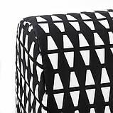 LYCKSELE HÅVET ЛЮККСЕЛЕ ХОВЕТ 2-місний диван-ліжко - ЕББАРП чорний/білий - IKEA, фото 8