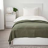 ODDRUN ОДДРУН Плед - темно-зелений - IKEA, фото 2
