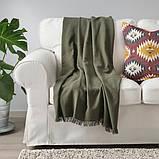 ODDRUN ОДДРУН Плед - темно-зелений - IKEA, фото 3