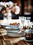 GLADELIG ГЛАДЕЛІГ Тарілка - сірий - IKEA, фото 9