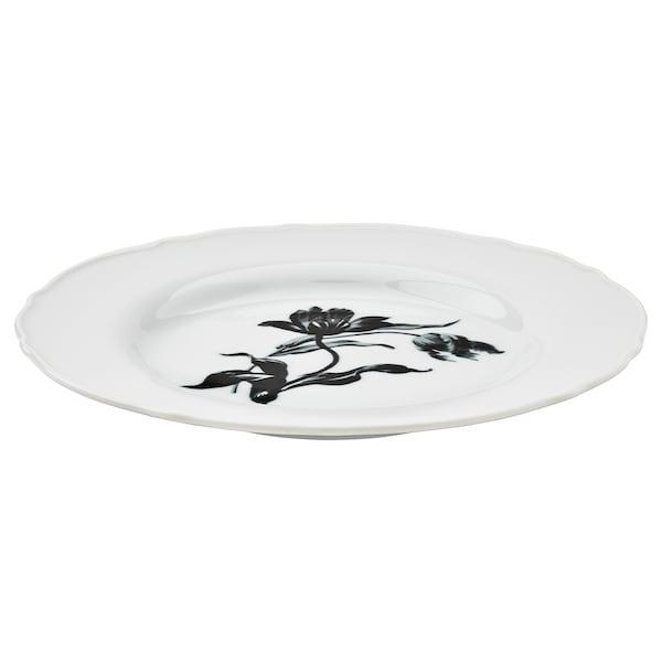 UPPLAGA УППЛАГА Тарілка десертна - білий/із малюнком - IKEA