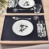 UPPLAGA УППЛАГА Тарілка десертна - білий/із малюнком - IKEA, фото 2
