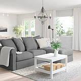 GRÖNLID ГРЕНЛІД 3-місний диван - з кушеткою/ЛЬЙУНГЕН класичний сірий - IKEA, фото 2