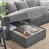GRÖNLID ГРЕНЛІД 3-місний диван - з кушеткою/ЛЬЙУНГЕН класичний сірий - IKEA, фото 8