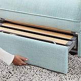 VALLENTUNA ВАЛЛЕНТУНА Модуль кутів 3-місного дивана-ліжка - відділення д/зберігання/ХІЛЛАРЕД світло-, фото 4
